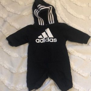ADIDAS jumpsuit with zipper and hood